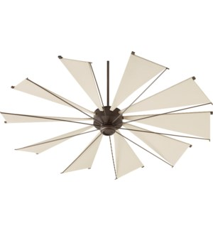 Mykonos 72-in 10 Blade Oiled Bronze Transitional Ceiling Fan