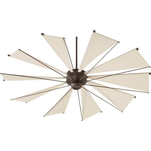 Mykonos 72-in 10 Blade Oiled Bronze Transitional Ceiling Fan
