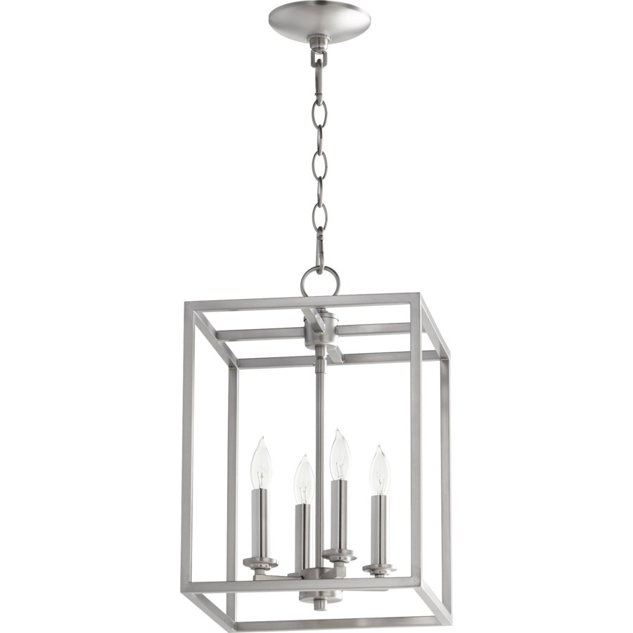 Cuboid 4 Light Satin Nickel Pendant