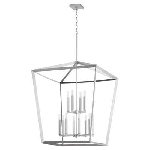 Manor 12 Light Classic Nickel Pendant
