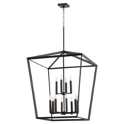 Manor 12 Light Black Pendant