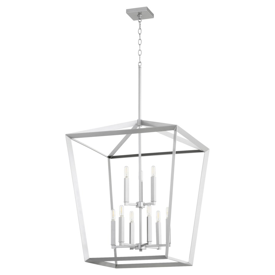 Manor 9 Light Classic Nickel Pendant