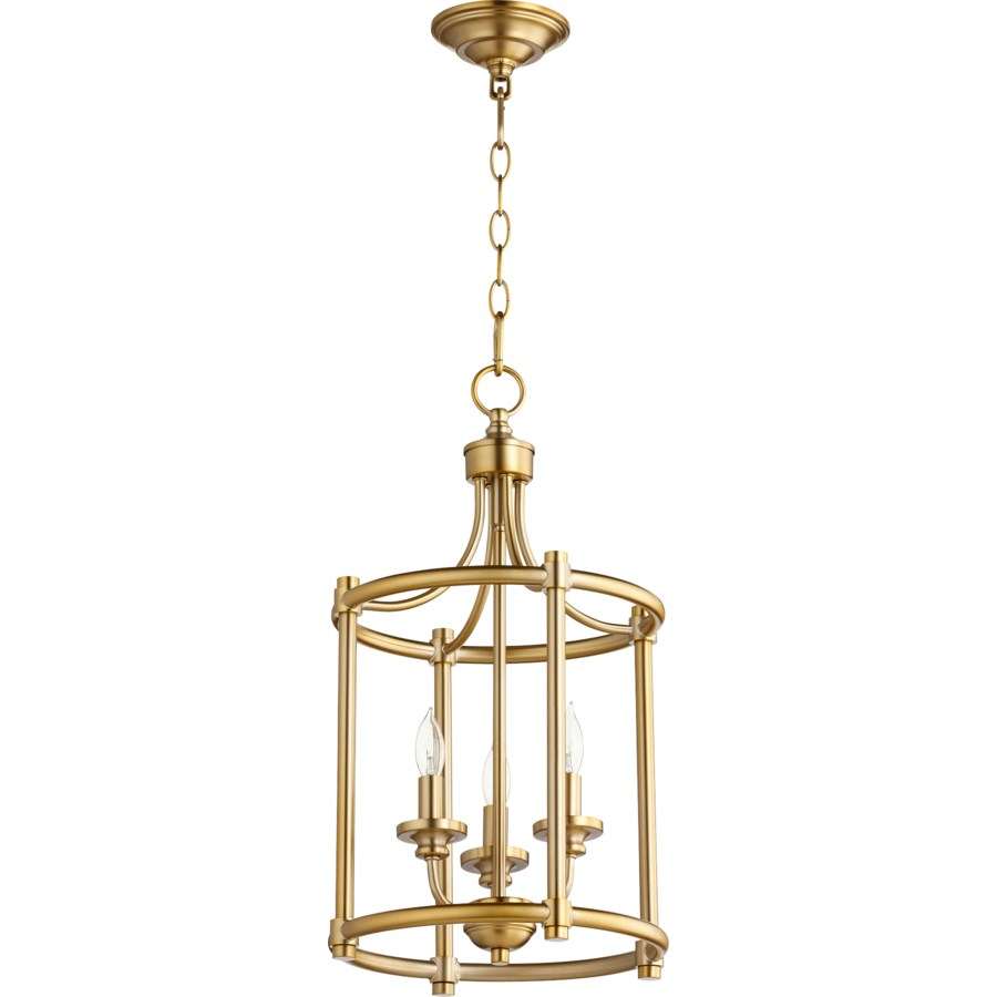 Rossington 3 Light Aged Brass Pendant