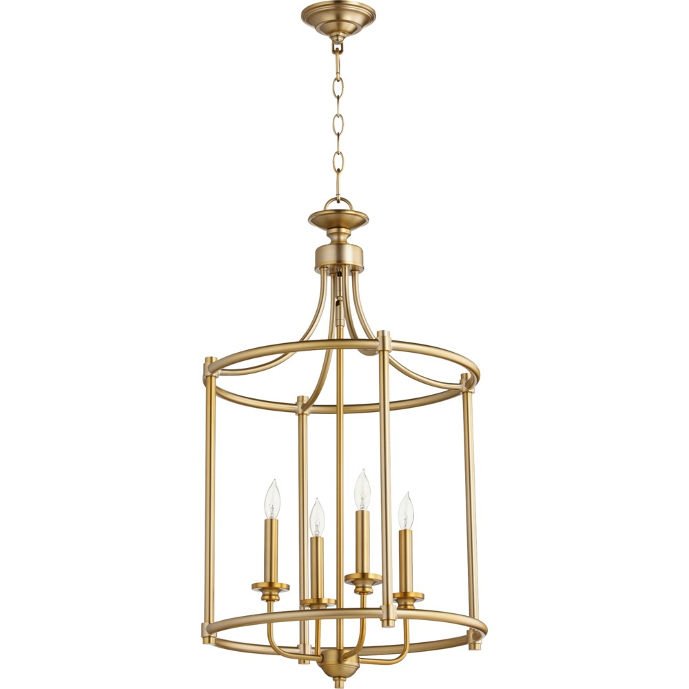 Rossington 4 Light Aged Brass Pendant