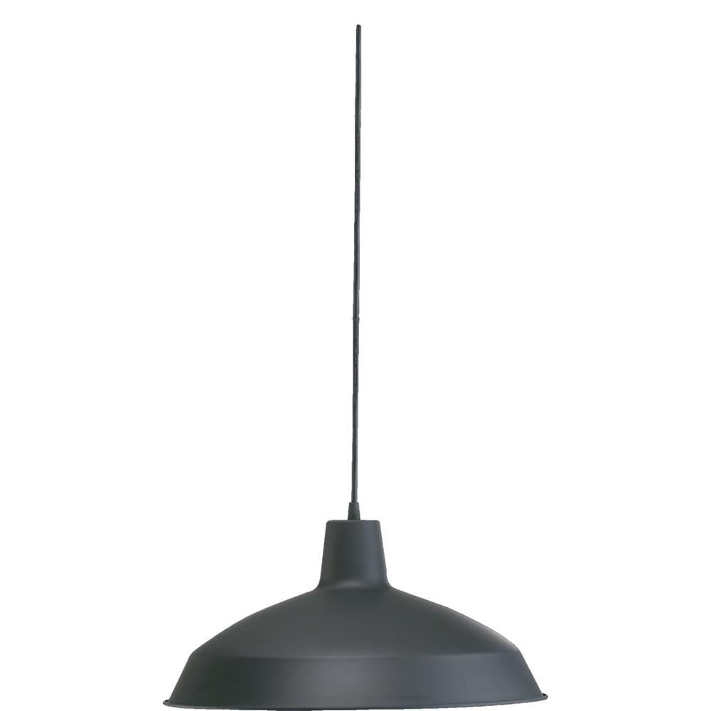 Hood Matte Black Industrial Pendant