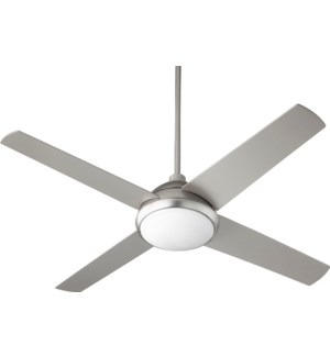 Quest 52-in 4 Blade Satin Nickel Transitional Ceiling Fan