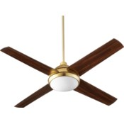 Quest 52-in 4 Blade Aged Brass Transitional Ceiling Fan