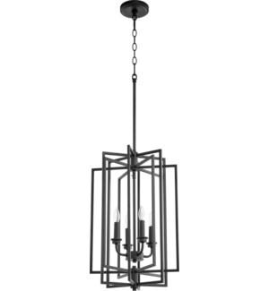 Hammond 4 Light Black Pendant