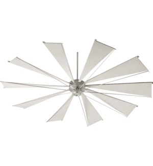 Mykonos 92-in 10 Blade Satin Nickel Transitional Ceiling Fan