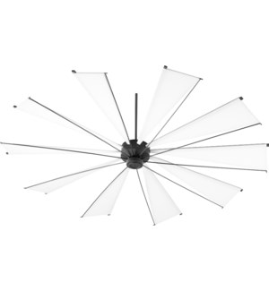 Mykonos 92-in 10 Blade Black Noir Transitional Ceiling Fan