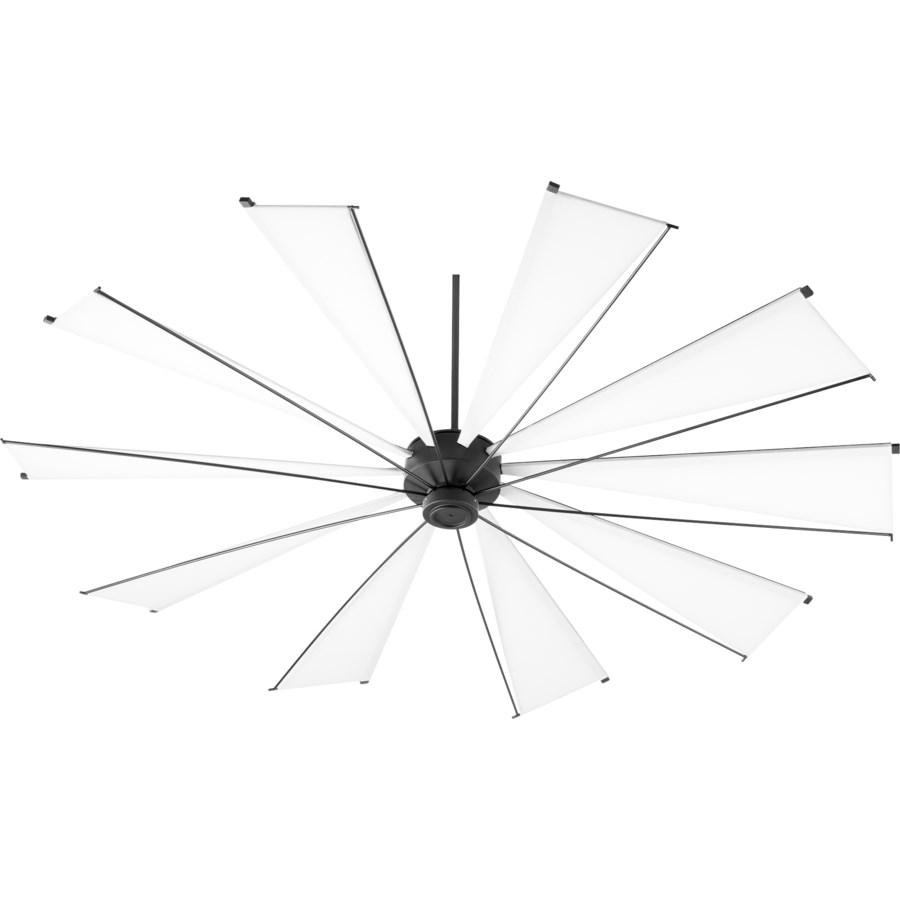 Mykonos 92-in 10 Blade Black Noir Transitional Ceiling Fan