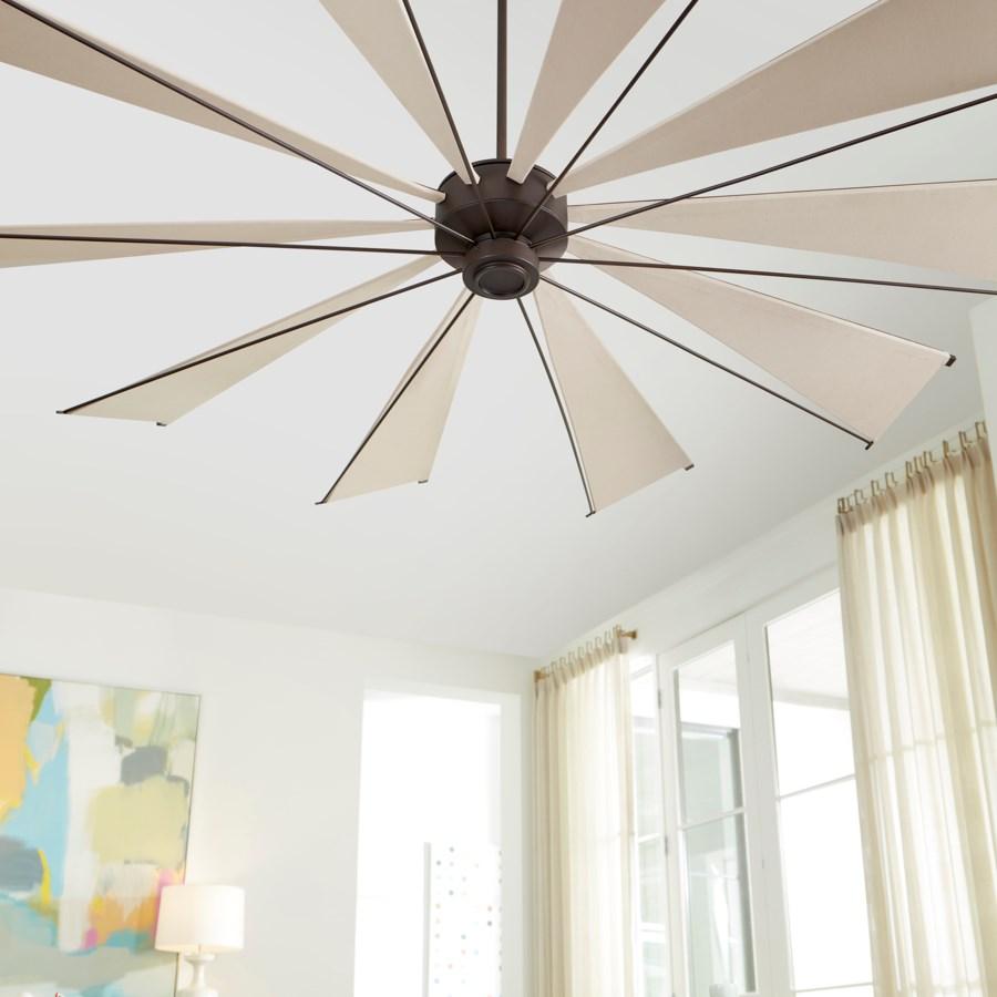 Mykonos 92-in 10 Blade Oiled Bronze Transitional Ceiling Fan