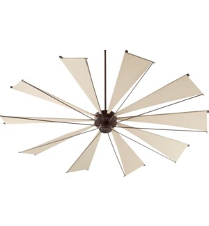 Mykonos 92-in 10 Blade Oiled Bronze Transitional Ceiling Fan