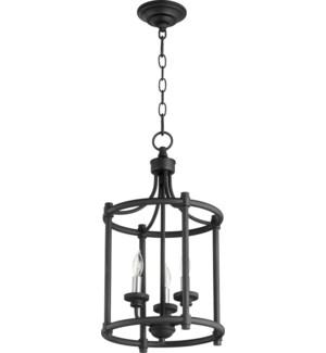 Transitional 3 Light Black Pendant