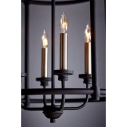 Transitional 4 Light Black Pendant