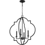 Dublin 4 Light Black Pendant