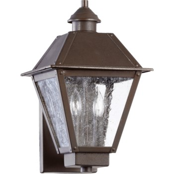 Emile 2 Light Traditional Oiled Bronze Outdoor Wall Light