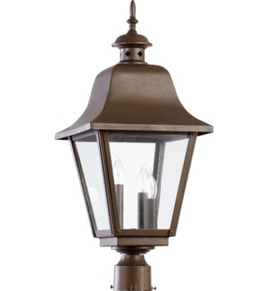Bishop Oiled Bronze Traditional Outdoor Post Light