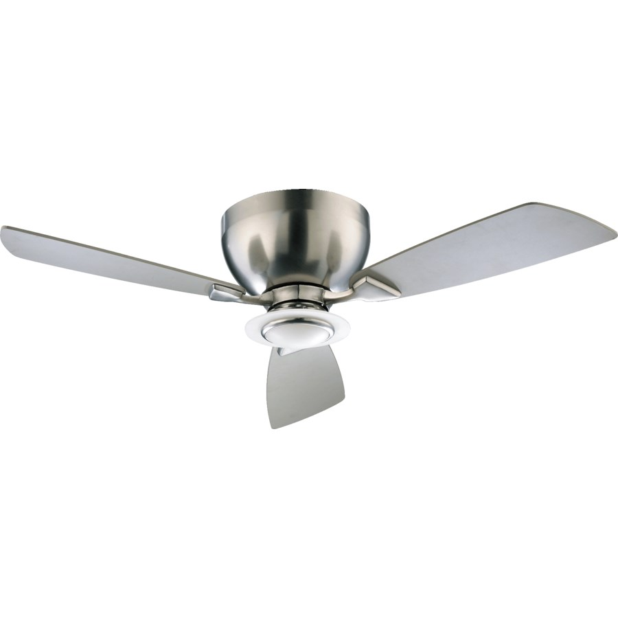 "Nikko 44"" 44-in 3 Blade Satin Nickel Modern and Contemporary Ceiling Fan"