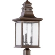 Magnolia Oiled Bronze Traditional Outdoor Post Light
