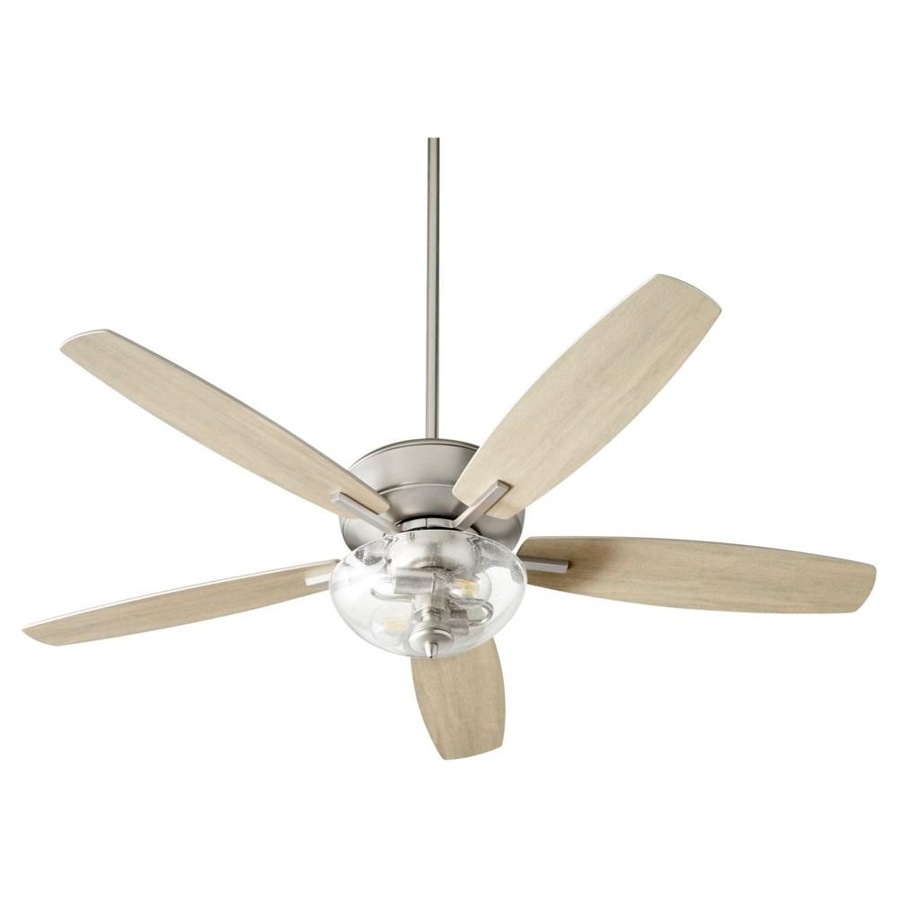 Breeze 52-in 5 Blade Satin Nickel Transitional Ceiling Fan
