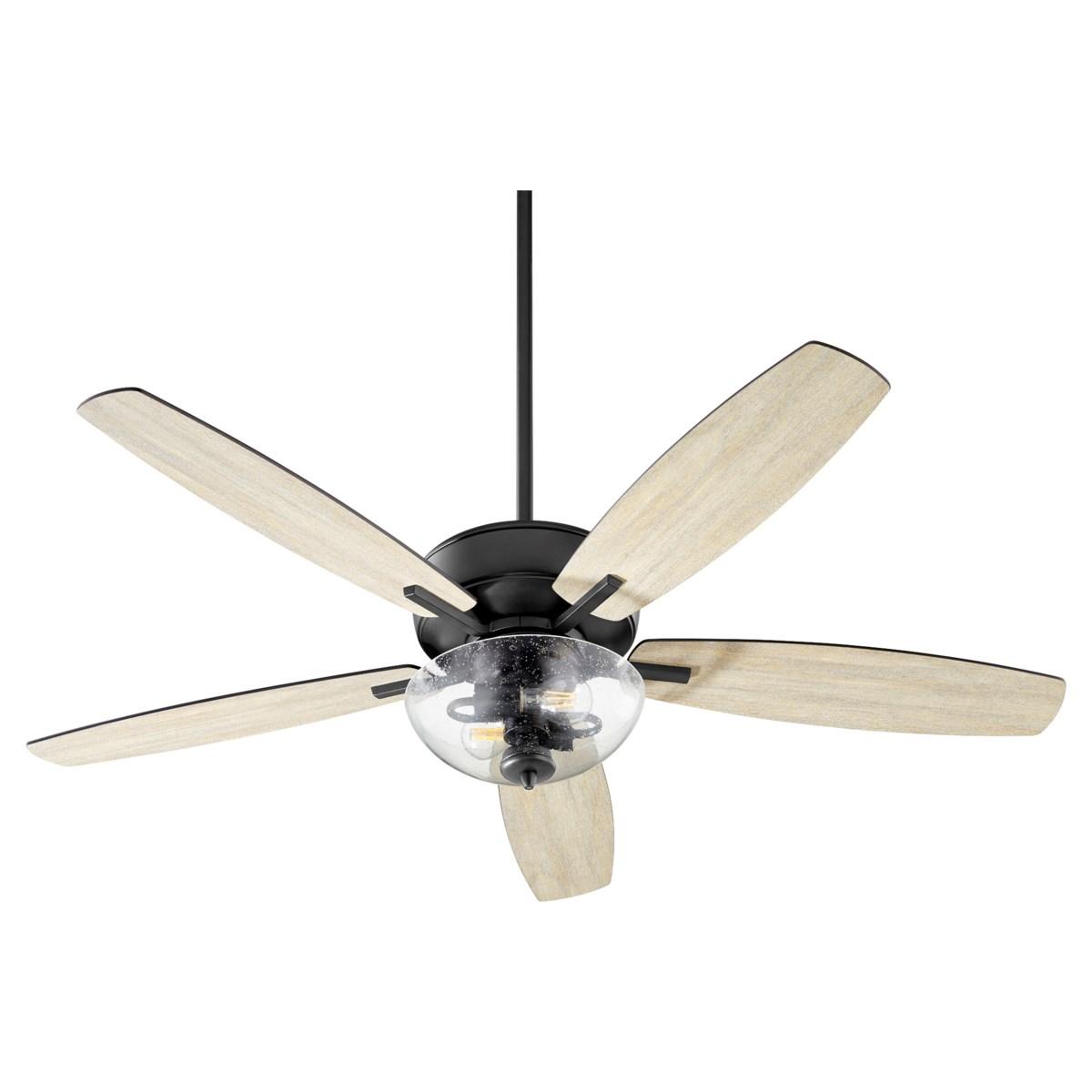 Breeze 52-in 5 Blade Black Noir Transitional Ceiling Fan