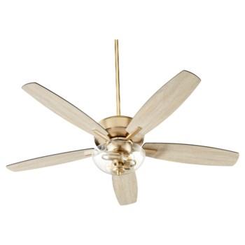 Breeze 52-in 5 Blade Aged Brass Transitional Ceiling Fan