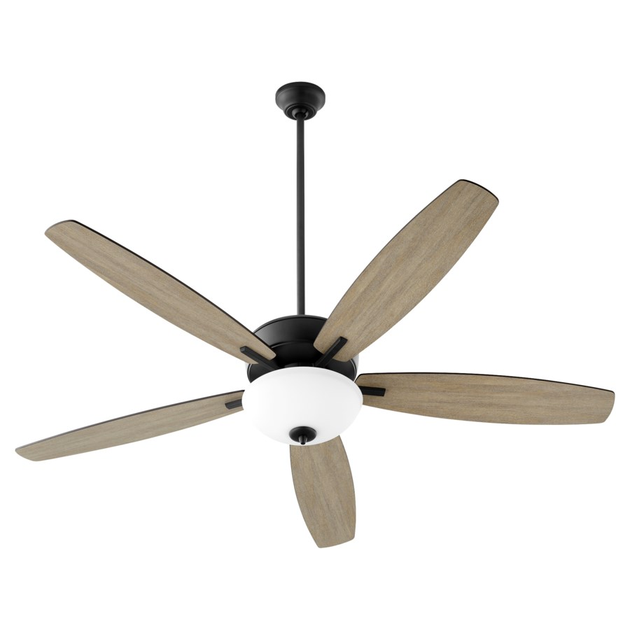 "Breeze 60"" Noir Opal Bowl Ceiling Fan"