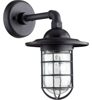 Bowery Black Industrial Outdoor Wall Light