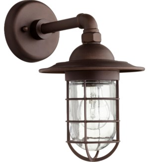 Bowery Oiled Bronze Industrial Outdoor Wall Light