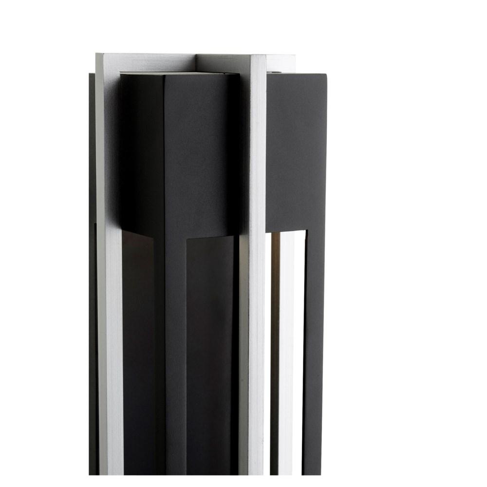 """Al Fresco 18"""" Noir/Brushed Aluminum Outdoor Lantern"""
