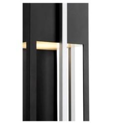 """Al Fresco 24"""" Noir/Brushed Aluminum Outdoor Lantern"""