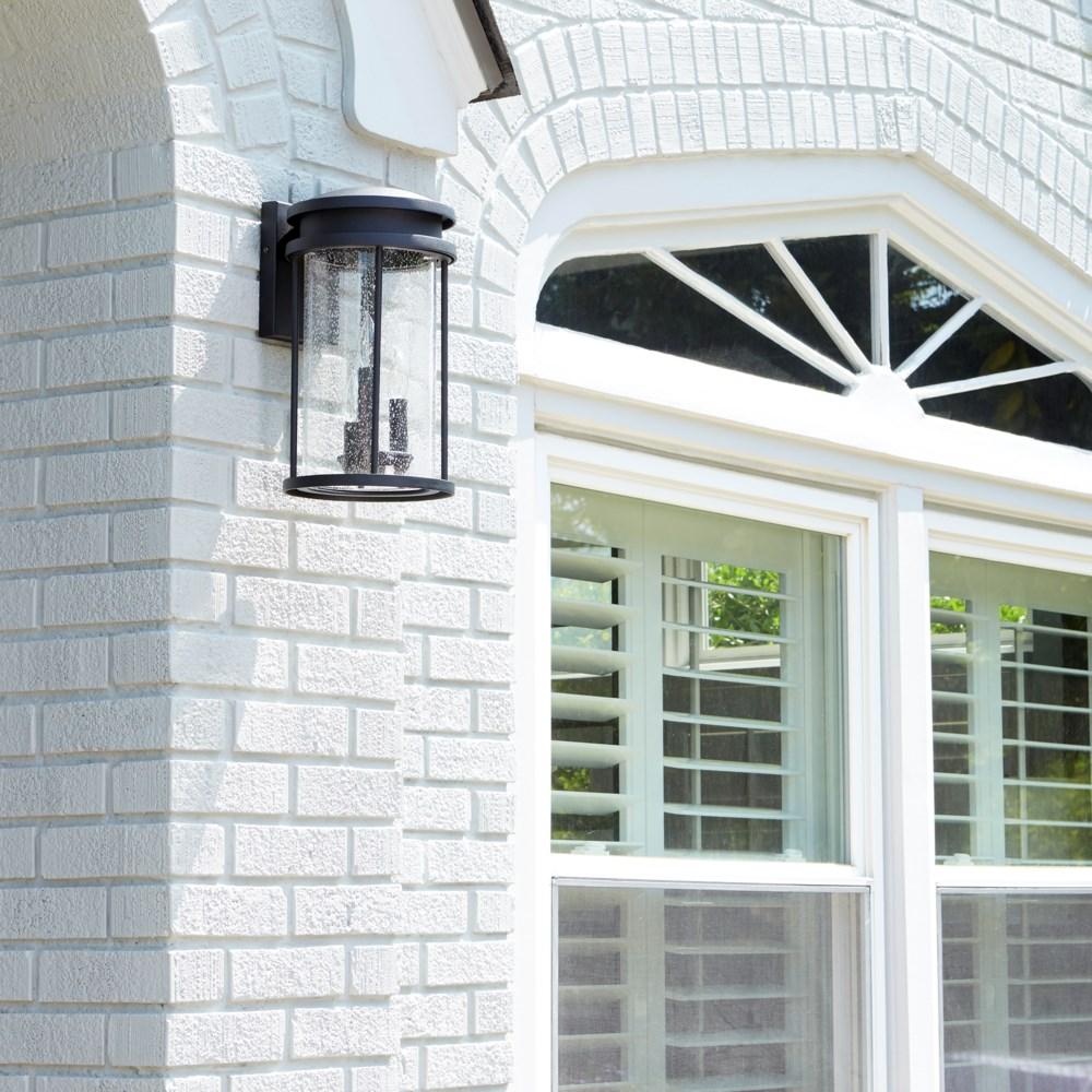 Hadley Black Transitional Outdoor Wall Light