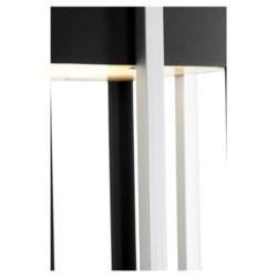 "Al Fresco 22"" Noir/Brushed Aluminum Outdoor Post Light"