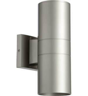 Cylinder 2 Light Modern and Contemporary Graphite Outdoor Wall Light