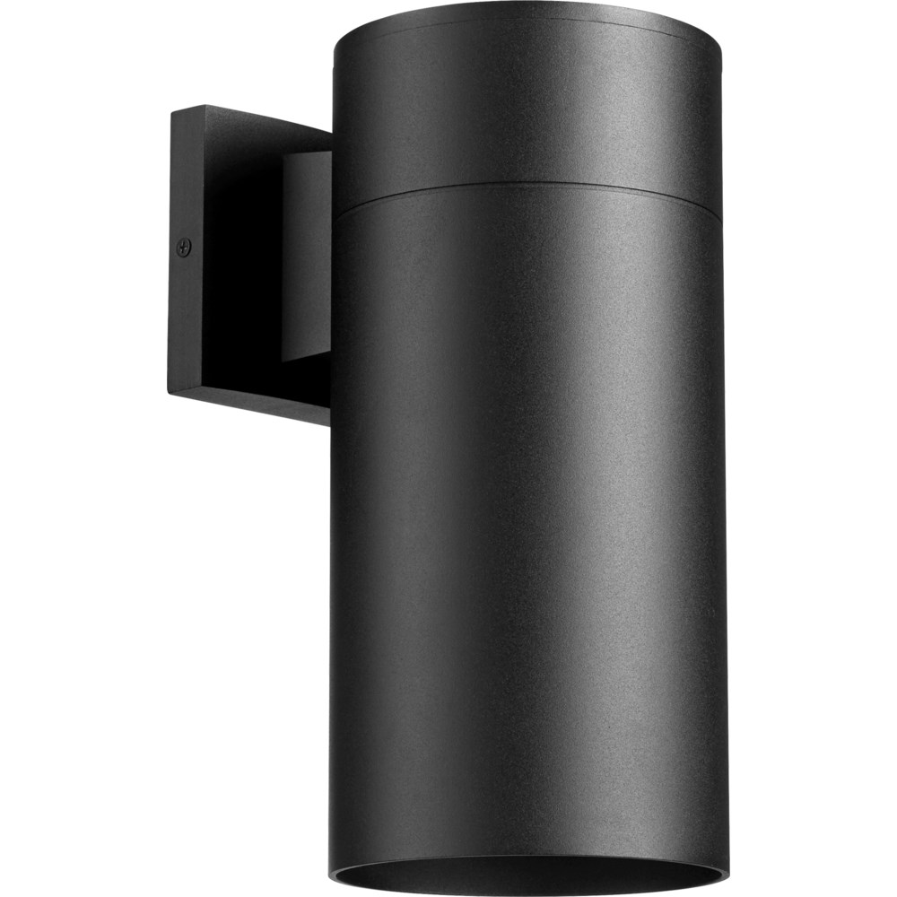 Cylinder 1 Light Modern and Contemporary Black Outdoor Wall Light