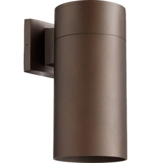 Cylinder 1 Light Modern and Contemporary Oiled Bronze Outdoor Wall Light