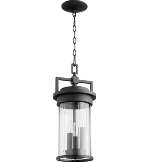 Dimas Black Transitional Outdoor Pendant