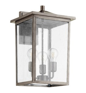 Riverside Weathered Zinc Transitional Outdoor Wall Light