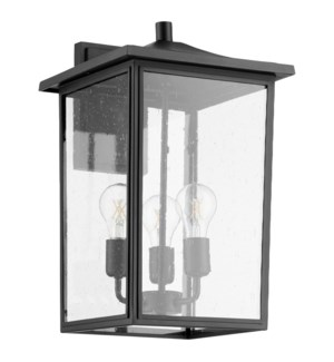 Riverside Black Transitional Outdoor Wall Light