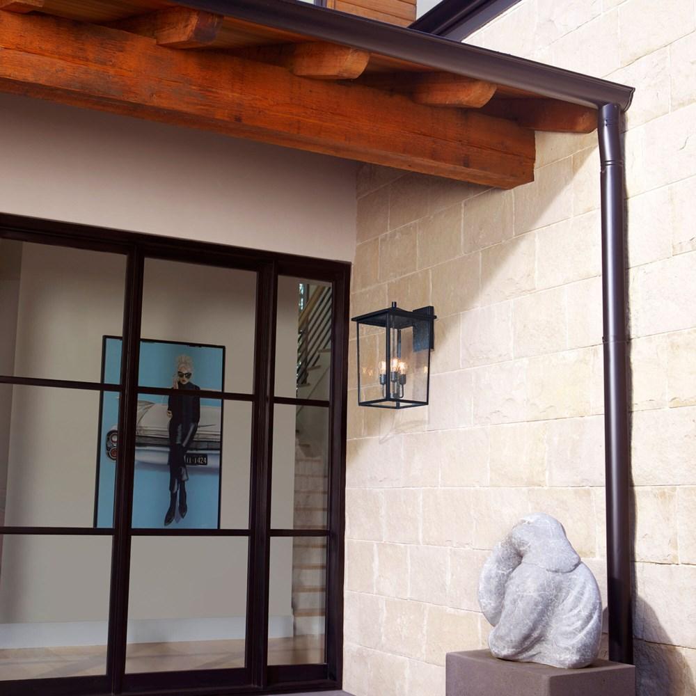 Riverside Black Transitional Outdoor Wall Light