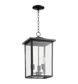 Riverside Black Transitional Outdoor Pendant