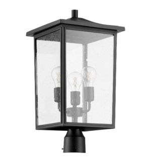 Riverside Black Transitional Outdoor Post Light