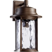 Charter Oiled Bronze Transitional Outdoor Wall Light