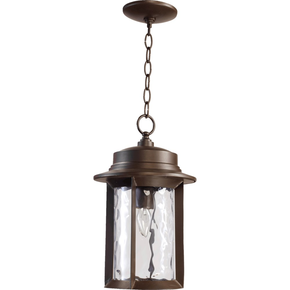 Charter Oiled Bronze  Transitional Outdoor Pendant