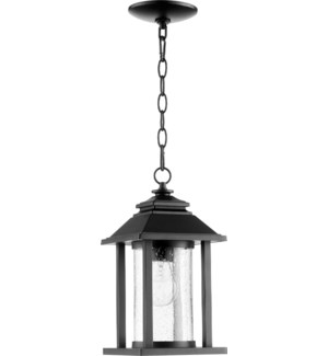 Crusoe Black Transitional Outdoor Pendant