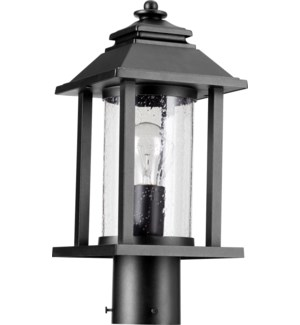 Crusoe BlackTransitional Outdoor Post Light