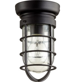 Bowery 8 Inch Ceiling Mount Black Noir