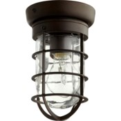 Bowery 8 Inch Ceiling Mount Oiled Bronze