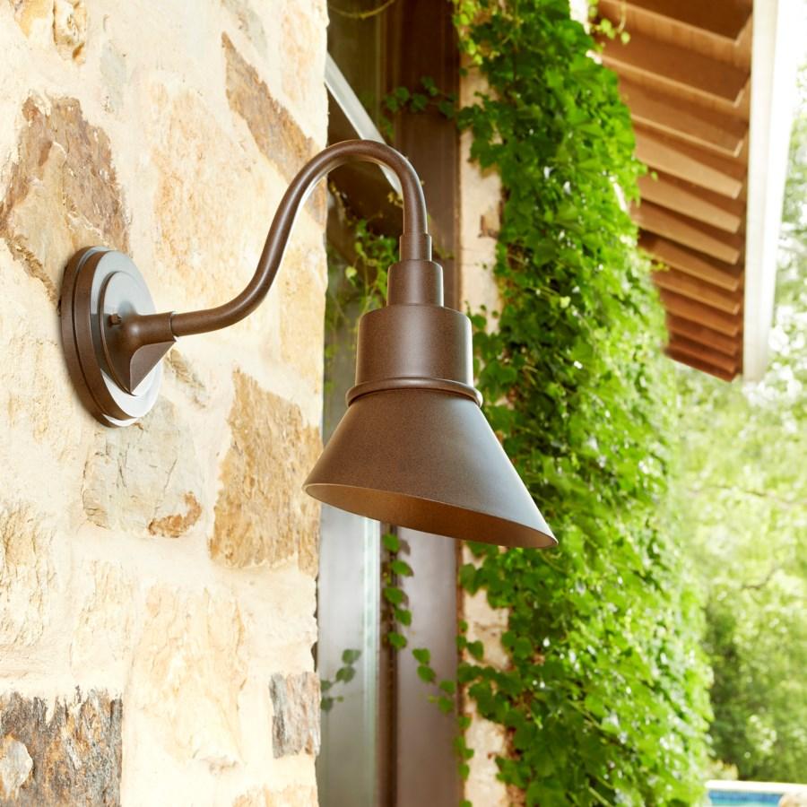 Torrey Oiled Bronze Modern Farmhouse Outdoor Wall Light